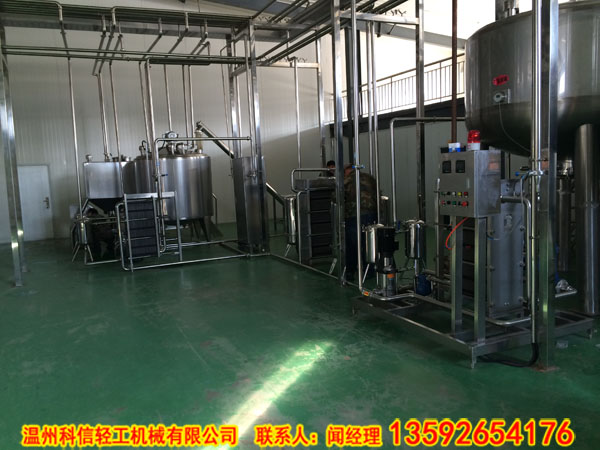 k谷物飲料加工生產線(綠豆飲料生產設備)小型紅豆飲料加工機器