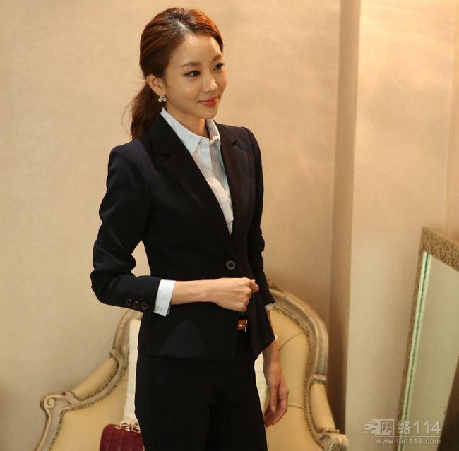 时尚女西装韩版女西装